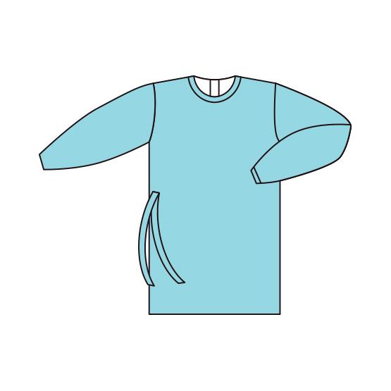 Bata de proteção em tecido técnico reutilizável